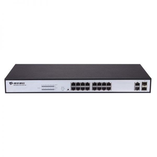 S1218-16P-330 Bdcom Commutateur non géré gigabit à 2 ports combinés à 100 ports 100M POE